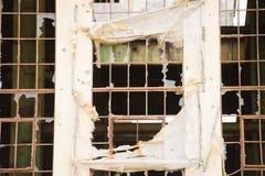 Demolished destruiu a ruína industrial fora fotos de stock royalty free