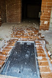 Demolished door Stock Images