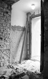 Demolished doorway royalty free stock images