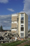 Demolished House. Against the blue sky Stock Photo