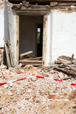 Demolished House. Door into a demolished house Royalty Free Stock Photos