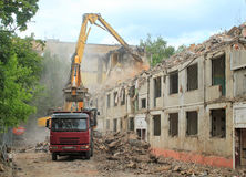 Demolished house Stock Photo