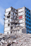 Demolished house before reconstruction Royalty Free Stock Photo