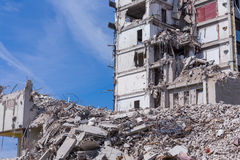 Demolished house before reconstruction Royalty Free Stock Photography
