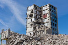 Demolished house before reconstruction Royalty Free Stock Images