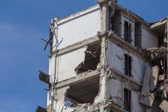Demolished house before reconstruction Royalty Free Stock Photo