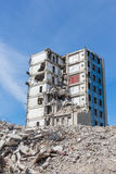 Demolished house before reconstruction Royalty Free Stock Image