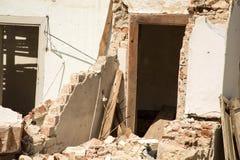 A Demolished House. A Ruin of a demolished house Stock Photos