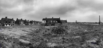 Demolished houses and wasteland Royalty Free Stock Photo