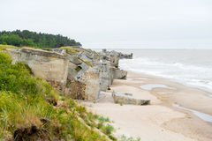 Demolished military fortifications in Liepaja, Stock Photography
