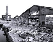 Demolished Old Factory Royalty Free Stock Photos