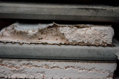 Demolished plasterboard. Demolished pieces of white plasterboard Royalty Free Stock Photography