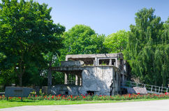 Demolished Westerplatte bunker Royalty Free Stock Image