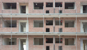 Demolishing a block of flats Royalty Free Stock Images
