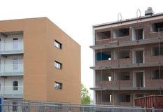 Demolishing a block of flats Stock Photo