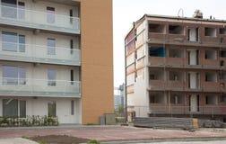 Demolishing a block of flats Stock Photography