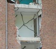 Demolishing a block of flats Royalty Free Stock Photography