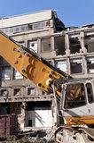 Demolishing building Royalty Free Stock Image