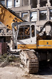Demolishing building Stock Photo