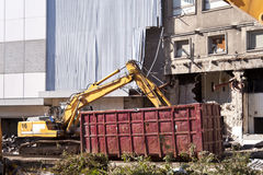 Demolishing building Stock Photos