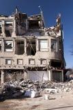 Demolishing building Stock Photo
