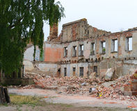 Demolishing of building Royalty Free Stock Photography