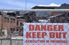 Demolishing the city centre Royalty Free Stock Photos