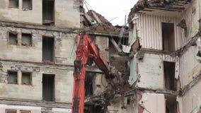 Demolishing. Demolition of old buildings stock footage