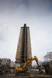 Demolishing the 25 floor building Royalty Free Stock Image