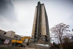 Demolishing the 25 floor building Royalty Free Stock Images