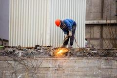 Demolishing the 25 floor building Stock Photography