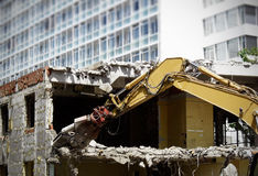 Demolishing a House Royalty Free Stock Images
