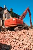 demolishing a house Stock Images