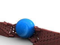 Demolishing of obstacles Stock Image