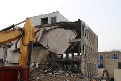 Demolitian urząd miasta zarząd miasta który był Zuidplas Obraz Stock