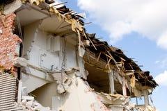 Demolition. A half-way demolished building Royalty Free Stock Image