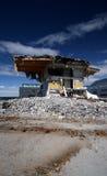 Demolition. Building being demolished Stock Photo