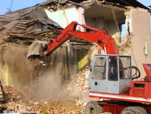 Demolition. Of a old brick building Stock Images