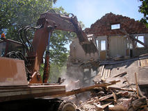 Demolition. Of an old village house stock image