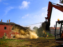 Demolition. Of a old brick building Royalty Free Stock Images
