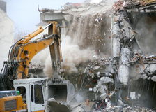 Demolition. Of the structure of building royalty free stock photography