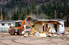 Demolition. The demolition of an old building Royalty Free Stock Photos