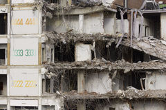 Demolition. The demolishing of the second, third and fourth floor of an old building Stock Image