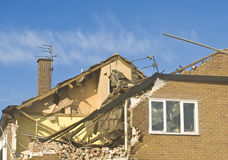 Demolition 4. Action shot of a building undergoing demolition Royalty Free Stock Images