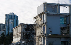 Demolition. Of an old building royalty free stock photos