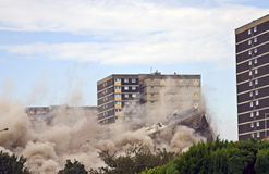 Demolition. Of 1960s building in Sighthill, Edinburgh Stock Images