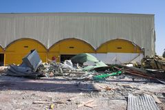 Demolition. Building demolition stock photos