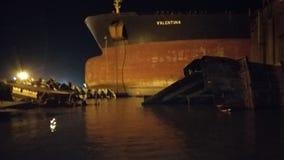 Final voyage / sail vlcc biggest vship. Demolition at alang Royalty Free Stock Image