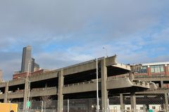 Demolition of the Alaskan Way Viaduct Royalty Free Stock Photos