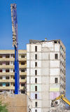 Demolition of a block of high-rise building Stock Photos